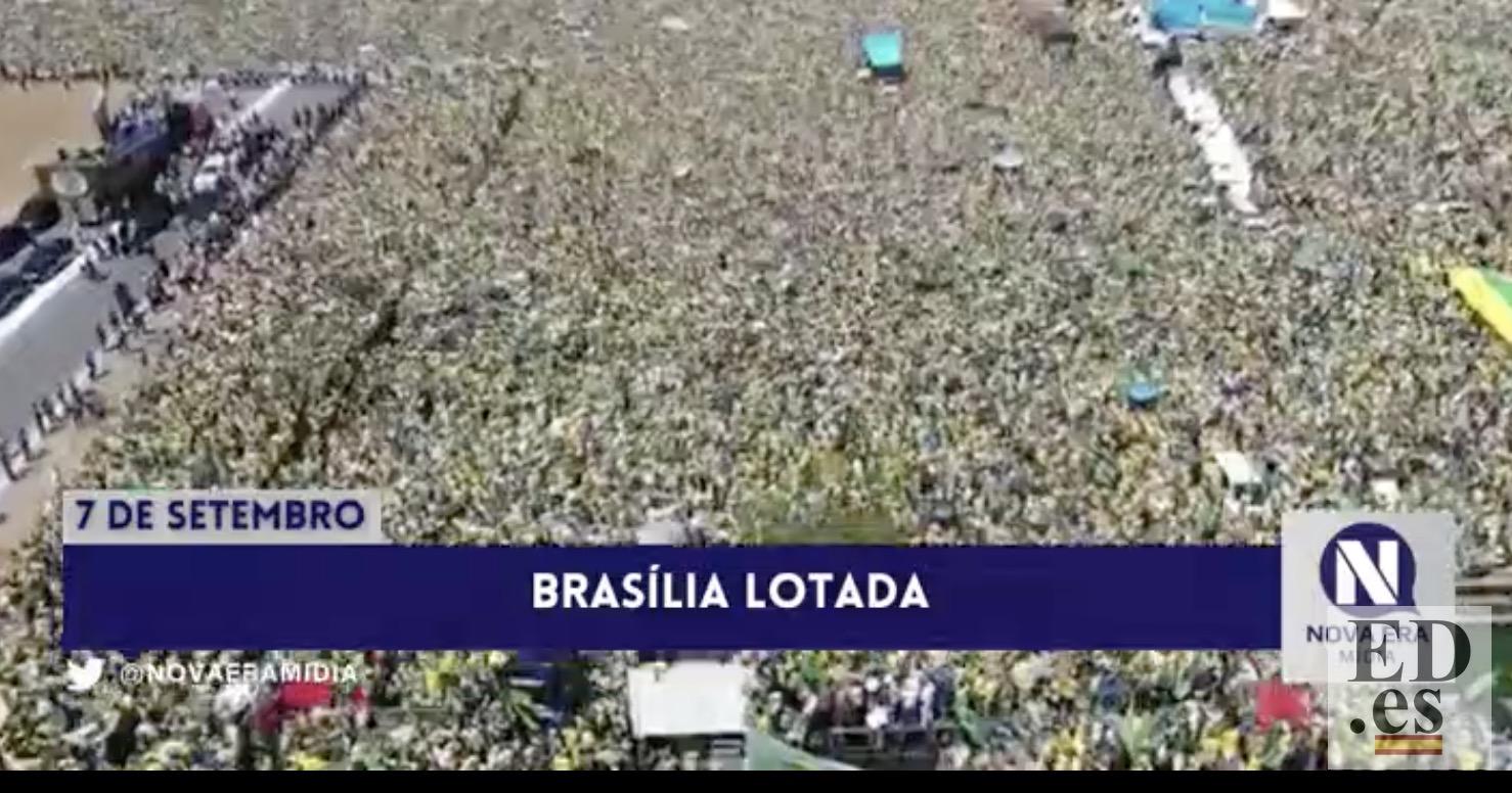 #SoloVídeos: Brasil vive la mayor manifestación de su historia en apoyo a Bolsonaro