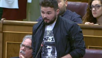 Gabriel Rufián justificando y aplaudiendo el acoso al juez Llarena