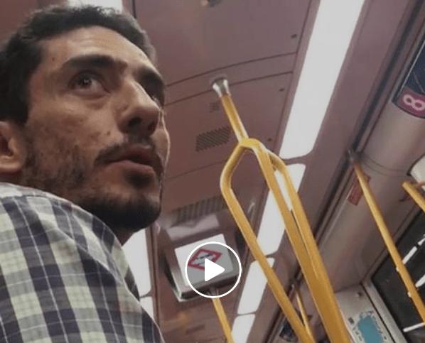 Vídeos del hombre que ha intimidado chicas en el metro Madrid