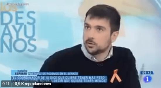 Ramón Espinar las vacaciones de Navidad de Pablo Iglesias