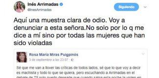 Cárcel para la mujer que deseó la violación en grupo de Inés Arrimadas