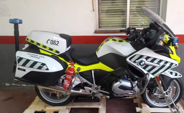 Motos de la Guardia Civil, radar de velocidad
