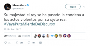 Manu Guix, independentista