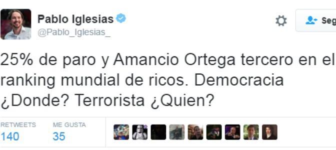 Alcalde podemita de Ferrol, Amancio Ortega