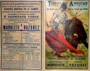 carteles de toros antiguos