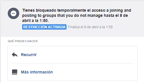 Dictadura censora de Facebook