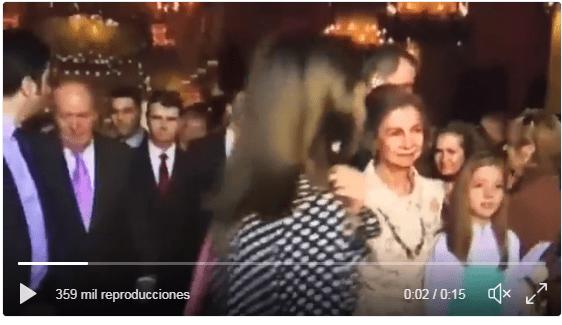 Feo gesto de la Reina Letizia
