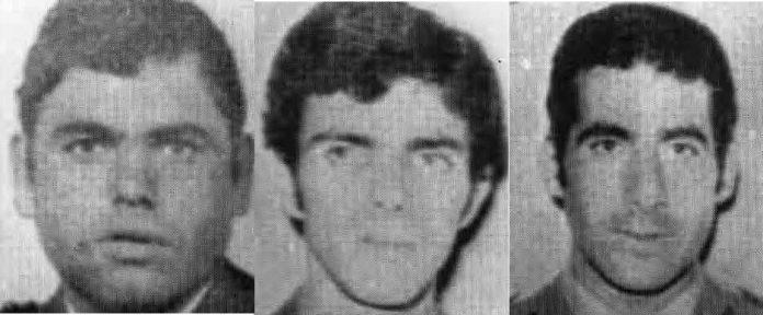 Todas las víctimas de ETA: Jesús Pascual Martín Lozano, Juan José Moreno Chamorro y Esteban Maldonado Llorente, guardias civiles