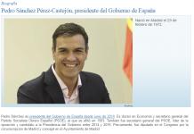 Currículum Pedro Sánchez