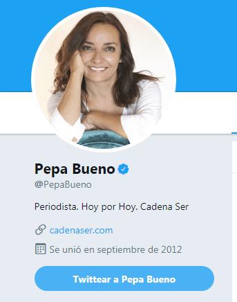 Pepa Bueno, ha soltado por Twitter la tontería del mes