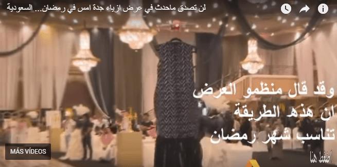 Desfile de alta costura con drones en Arabia Saudí