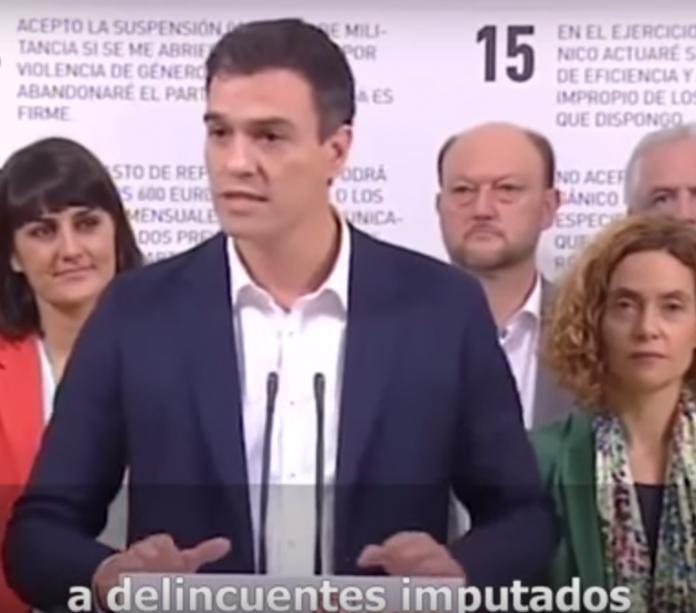 Pedro Sánchez, Luis Planas imputado