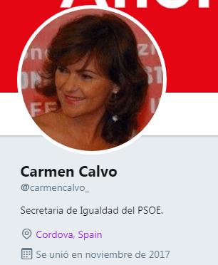 Carmen Calvo empieza a meter la pata