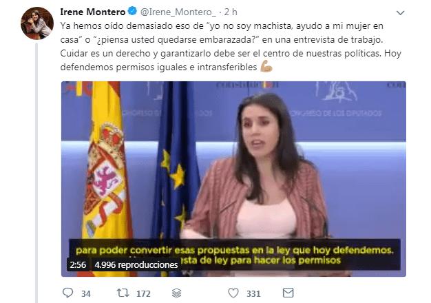 Irene Montero recibe un tremendo zasca en Twitter