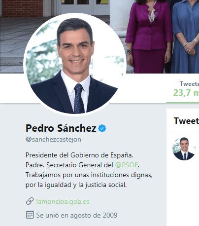 Tuits de 2015 de Pedro Sánchez