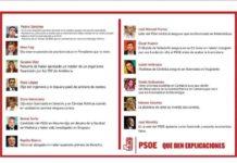 Los currículos falseados por líderes del PSOE