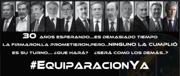 Protestas de JUSAPOL contra Pedro Sánchez