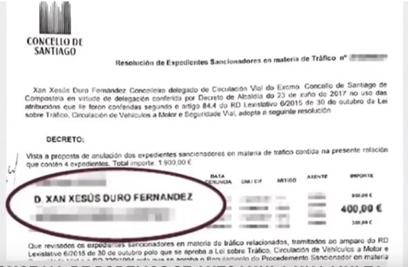 Concejal de Podemos se anula multa de tráfico