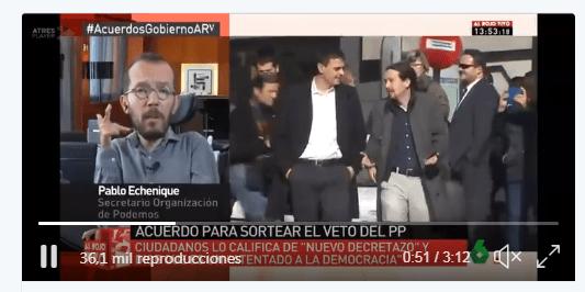 Los tuits de odio de Pablo Echenique contra el PP