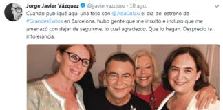 Jorge Javier Vázquez, Votó a Carmena en Madrid