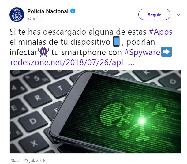 Policía Nacional recomienda eliminar unas aplicaciones para móvil