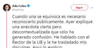 Ada Colau sigue dando la matraca