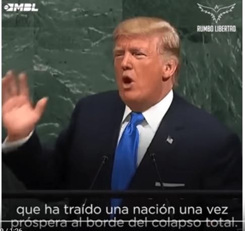 Donald Trump ONU socialismo y comunismo