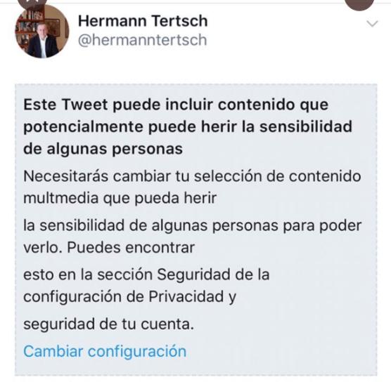 Twitter censura Hermann Tertsch