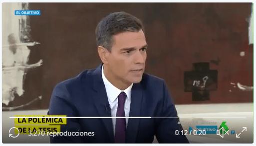 Pedro Sánchez en la entrevista de La Sexta