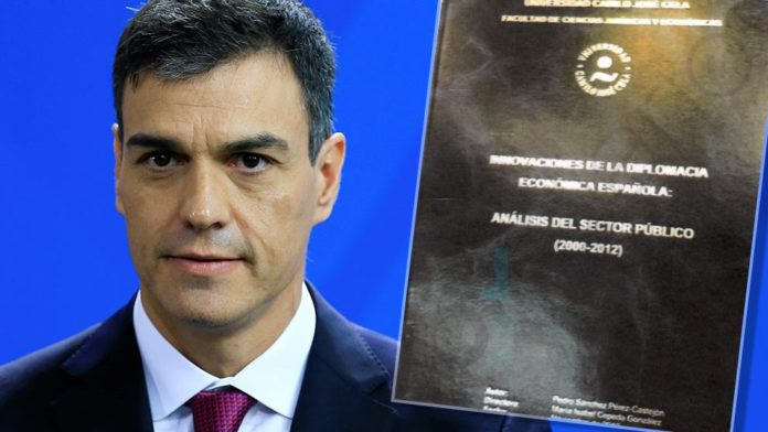 Evidencia irregularidades tesis Pedro Sánchez