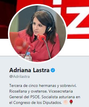 Adriana Lastra manifestantes domingo