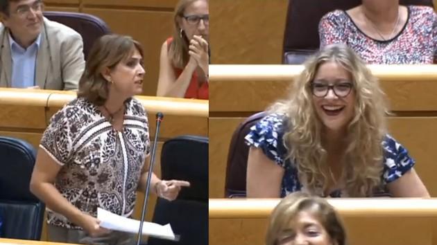 Ministra de Justicia bloquea en Twitter a senadora del PP