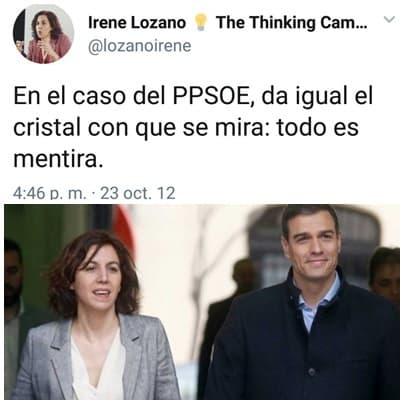 Irene Lozano chaquetera