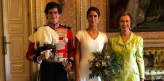 Reina Sofía boda corte a uno de los invitados