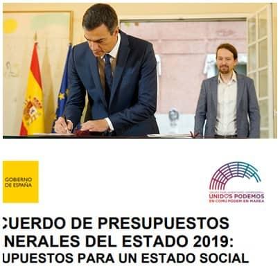 El logo de Podemos en los presupuestos del estado