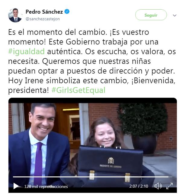 El ridículo vídeo de autobombo de Pedro Sánchez