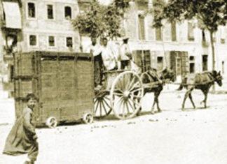 transportado en un cajón