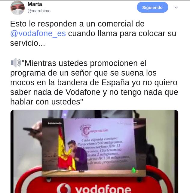 Llamada comercial Vodafone