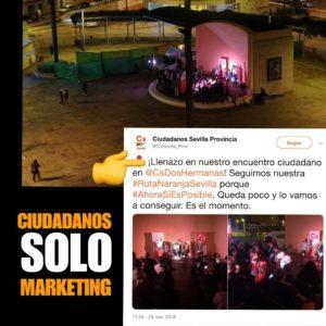 """Así """"manipula"""" Ciudadanos sus actos electorales"""