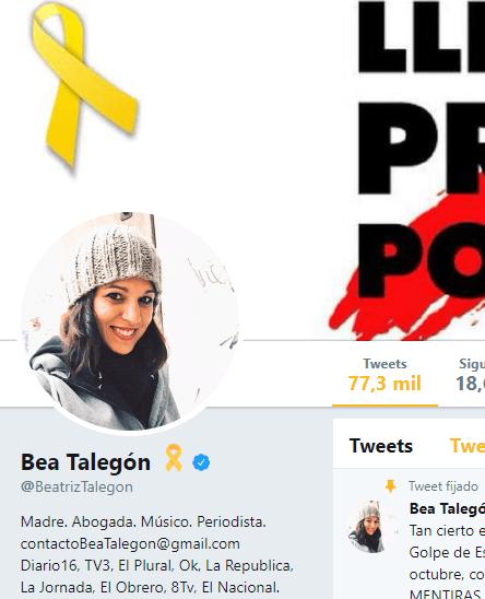Beatriz Talegón también escupe contra Borrell