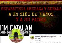 separatista amenaza de muerte a un niño de 7 años y a su padre