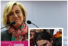 Rosa Díez Pablo Iglesias escrache