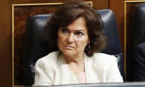 Carmen Calvo prohibido EEUU