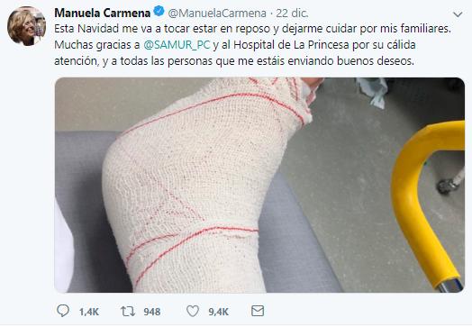 Se debería investigar el entorno familiar de Carmena por posible violencia de género