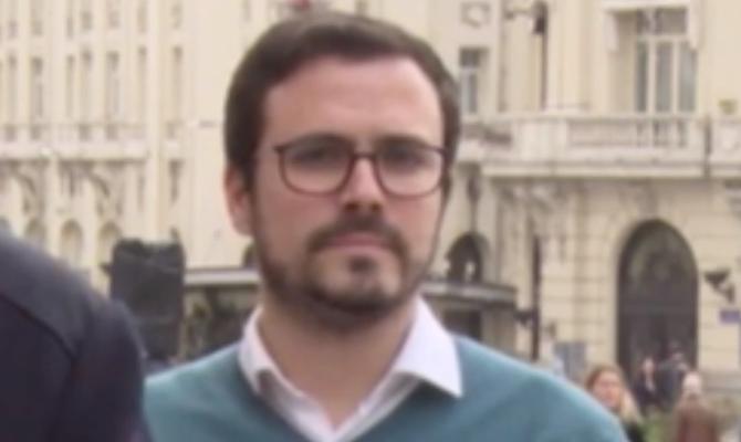 Alberto Garzón dentro de Podemos