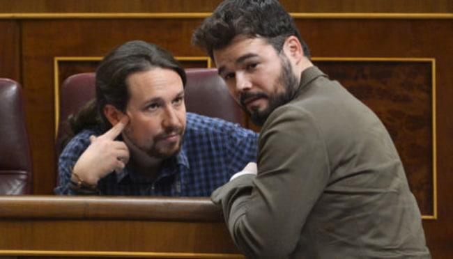 Rufián acusa a Iglesias de mentiroso y le amenaza