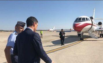 Sánchez cogió su avión