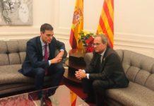 Sánchez negocia con Torra
