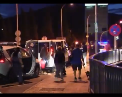 Policías franceses entran en España inmigrantes