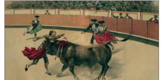 cogida de Guerrita en Murcia
